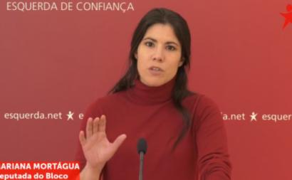 """Mariana Mortágua salienta que """"é muito óbvio que a Lone Star está a esgotar a garantia pública o mais rápido que pode para recapitalizar o banco às custas do Estado""""."""