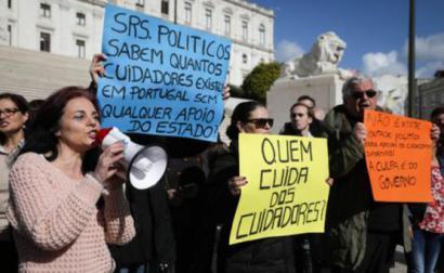 Manifestação de cuidadores
