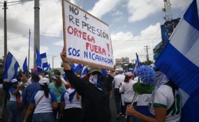 """""""Não mais repressão"""", manifestação na Nicarágua - Foto Envio digital  - arquivo"""