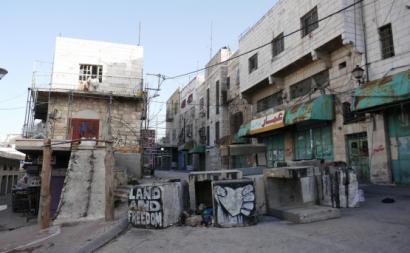 Hebron, Janeiro de 2018, junto a um checkpoint. Fotografia de Ana Bárbara Pedrosa.