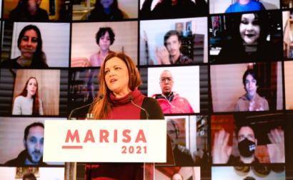 Marisa Matias no comício virtual feito a partir da Amadora.