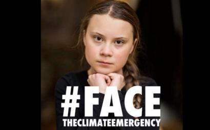 #FacetheClimateChange, via instagram @gretathunberg