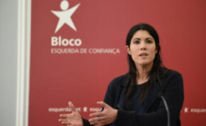 Mariana Mortágua na sede do Bloco.