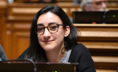 Isabel Pires na Assembleia da República. Foto de Paula Nunes.