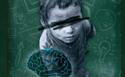 A pobreza tem impacto no desenvolvimento do cérebro. Ilustração publicada no Viento Sur.
