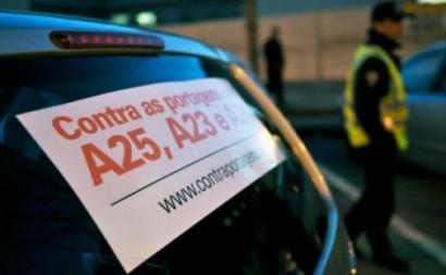Contra as portagens nas A25, A23 e A24 – Foto de André Ferreira, Lusa (arquivo)