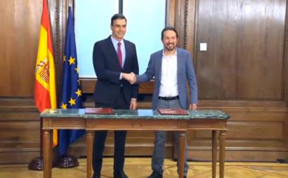 Pedro Sánchez e Pablo Iglesias