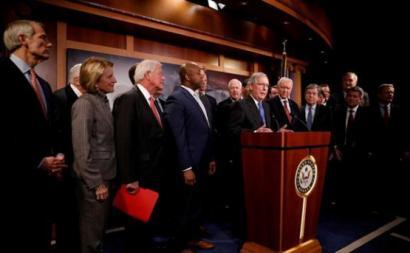 Senadores republicanos dos EUA na aprovação da reforma fiscal