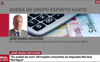 Banqueiro Ricciardi ataca desabridamente Mariana Mortágua