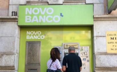 Agência do Novo Banco em Lisboa.