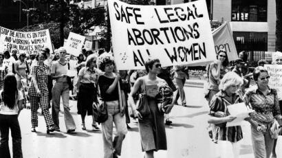 Manifestação de 1977 em Washington pelo direito ao aborto.