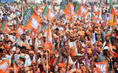 Comício do BJP. Maio de 2014.