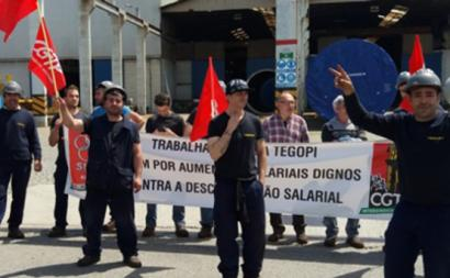 Trabalhadores da Tegopi iniciaram uma greve de uma hora por turno, por tempo indeterminado, tendo começado à 1.30h da madrugada desta sexta-feira