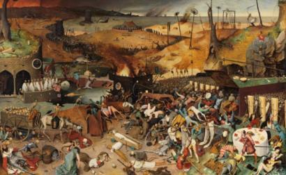 """""""O triunfo da morte"""" de Pieter Bruegel, o Velho, um quadro sobre a peste bubónica."""