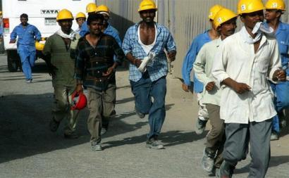 Trabalhadores migrantes no Golfo. Foto de A L´Encontre.