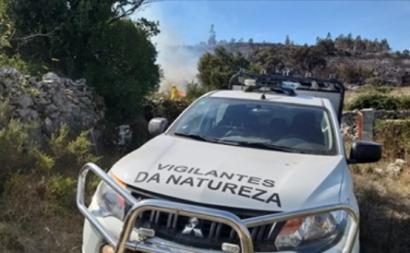 Carro de vigilantes da natureza - Foto por Instituto da Conservação da Natureza e das Florestas – Facebook