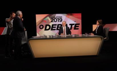 Debate entre António Costa e Catarina Martins, moderado por António José Teixeira - Foto Paula Nunes