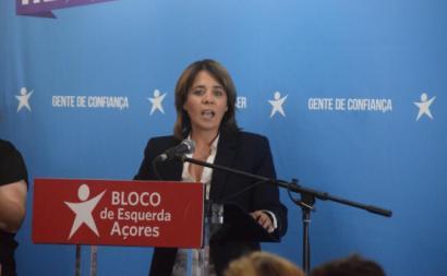 Catarina Martins em Ponta Delgada, 13 de setembro de 2019.