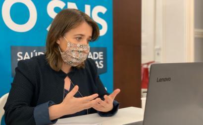 Catarina Martins em reunião com profissionais de saúde. Maio de 2020.