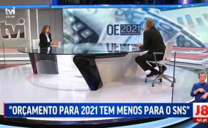 Catarina Martins esteve esta segunda-feira no Jornal das 8 da TVI