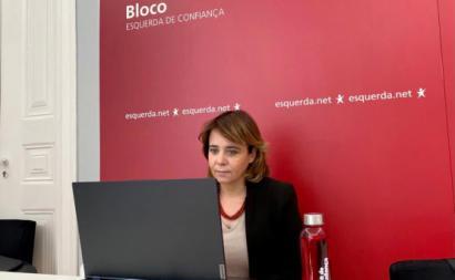 Catarina Martins esteve hoje em videoconferência com o Presidente da República - Foto esquerda.net