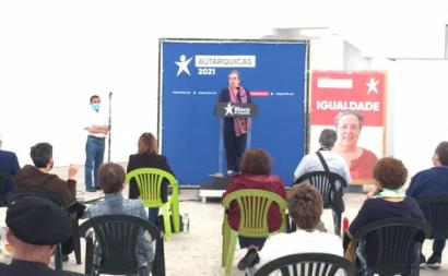 Helena Pinto na apresentação da candidatura de Torres Novas.