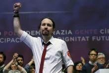 Pablo Iglesias no final do segundo congresso do Podemos.