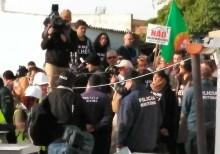 Protestos na ilha do Farlo, na Ria Formosa