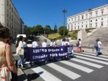 """""""Ergui a minha voz indignada pela reversão que o governo do PSD/CDS queria fazer na lei que permite a IVG"""", refere Deolinda Martin"""