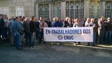 Ex-trabalhadores dos ENVC marcaram marcha silenciosa para 28 de abril em Lisboa, para exigir ao governo uma saída para os trabalhadores que perdem subsídio de desemprego
