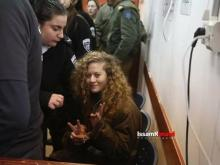 Ahed Tamimi no tribunal, 13 de fevereiro de 2018 - Foto de Issam Rimawi, publicada em samidoun.net