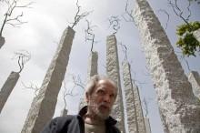 Alberto Carneiro no Parque de Escultura de Almourol, por Paulo Cunha - Lusa