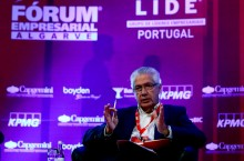 António Saraiva no Fórum Empresarial Algarve, Faro 18 de fevereiro de 2017 – Foto Luís Forra/Lusa