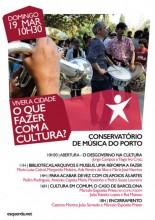 """Conferência """"Viver a Cidade - O que fazer com a Cultura?"""", dia 19 de março"""