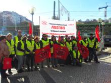 Manifestação dos trabalhadores vigilantes da PRESTIBEL