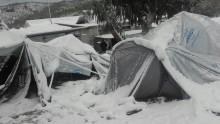Campo de Refugiados em Moria, Grécia, janeiro de 2017.