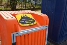 Ponto de recolha de óleos usados. Foto Emissora das Beiras.
