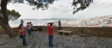 Turismo em Lisboa, imagem do Castelo de São Jorge do Google Maps.