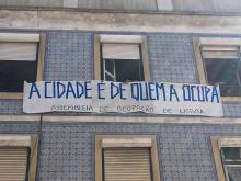 Casa ocupada para defender o direito à habitação em Lisboa