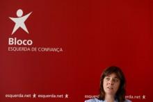 Catarina Martins na conferência de imprensa onde criticou omissões no programa de estabilidade do governo