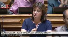 """Catarina Martins: """"Quando recuperamos rendimentos, a economia e as contas públicas ficam também melhor""""."""