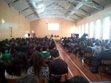 """Conferência sobre """"A Europa dos valores"""" na Escola Mário Sacramento, em Aveiro, onde Catarina Martins interveio – Foto esquerda.net"""