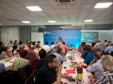 Catarina Martins intervindo na apresentação da candidatura bloquista no concelho da Moita - Foto esquerda.net