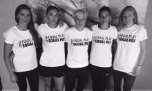 Campanha #EqualPay de atletas norte-americanas, via @CarliLoyd