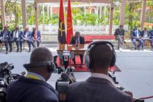 Conferência de imprensa de João Lourenço, Presidente da República de Angola, em Luanda, 8 de janeiro de 2018 – Foto de Joost de Raeymaeker/Lusa