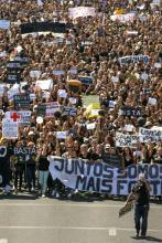 Milhares de enfermeiras e enfermeiros manifestaram-se em Lisboa, 15 de setembro - Foto de Tiago Petinga/Lusa