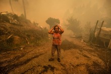Fogo florestal em Pampilhosa da Serra. Por Paulo Novais, Lusa.