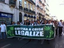 Marcha global da mariajuana 2017, em Lisboa, foto de Luís Branco