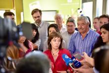 """Catarina Martins destacou o facto de existir hoje, em Portugal, """"um grave problema de desemprego de longa duração que tem de ser abordado e precisa de ter resposta"""". Foto de Paulete Matos."""