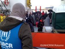Imigrantes no Mediterrâneo, 16 de janeiro de 2017 – Foto UNHCR/M. Rotunno